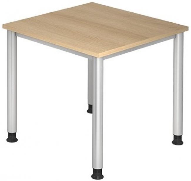 Schreibtisch hera breite 80 cm x tiefe 80 cm 4 fu for Schreibtisch 80x80
