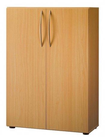 aktenschrank 3 ordnerh hen light 80cm breite dekor ahorn buche lichtgrau. Black Bedroom Furniture Sets. Home Design Ideas