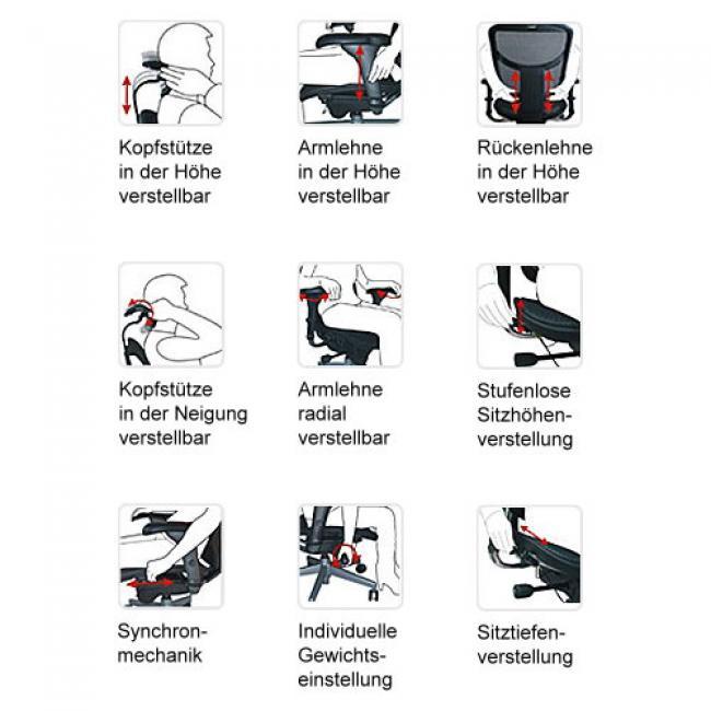 Drehstuhl Chefsessel Mod Free Ergonomischer Burostuhl Mit Netz