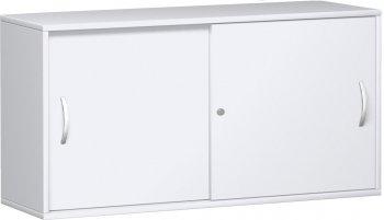 schrank mit schiebet ren 2 ordnerh hen 160 cm breit montiert in ahorn buche. Black Bedroom Furniture Sets. Home Design Ideas