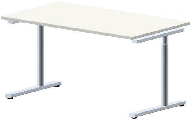 schreibtisch style one breite 140 cm x tiefe 80 cm ahorn buche lichtgrau gr. Black Bedroom Furniture Sets. Home Design Ideas