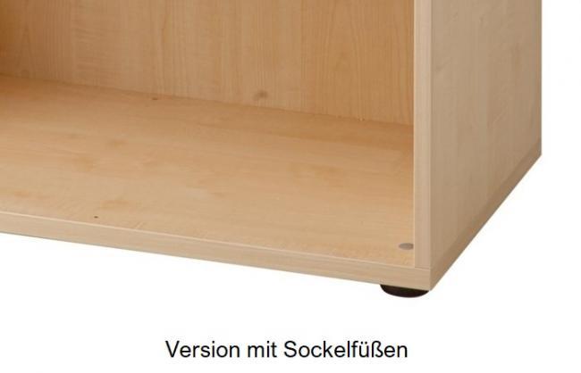 Garderobenschrank mit Türen 6 Ordnerhöhen | Breite 80 cm ...