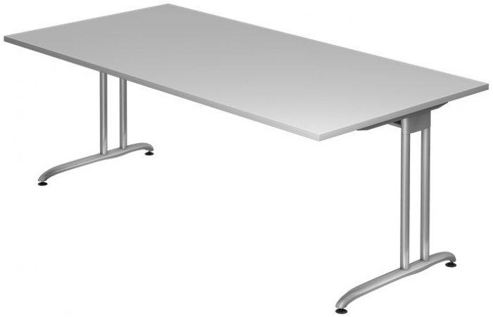 Schreibtisch beta breite 200 cm x tiefe 100 cm rechteckig for Schreibtisch 250 cm