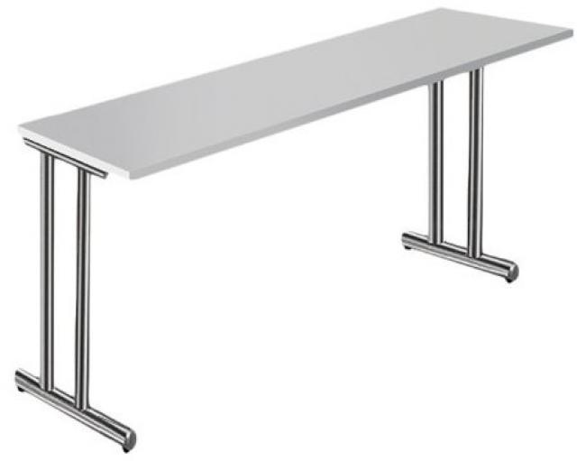 ansatzt schreibtisch adlat breite 170 cm x tiefe 60 cm c fu gestell chrom. Black Bedroom Furniture Sets. Home Design Ideas