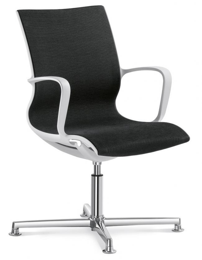 Konferenzstuhl  Besprechungsstuhl mit Fußkreuz Aluminium poliert | mit Gleiter ...