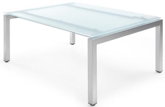 Beistelltisch mit platte aus milchglas 80x80 cm for Beistelltisch 80x80