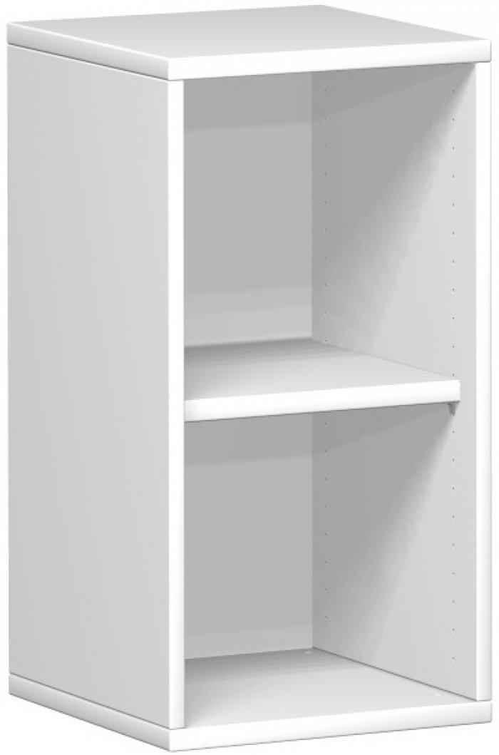 offenes regal 2 ordnerh hen 40 cm breit montiert in ahorn buche grau nuss. Black Bedroom Furniture Sets. Home Design Ideas
