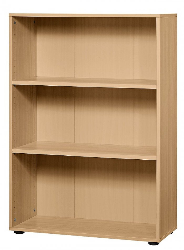 aktenregal offen 3 ordnerh hen 80cm breite dekor ahorn buche lichtgrau. Black Bedroom Furniture Sets. Home Design Ideas