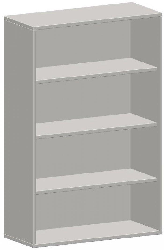 offenes regal 4 ordnerh hen 100 cm breit montiert in ahorn buche grau nus. Black Bedroom Furniture Sets. Home Design Ideas