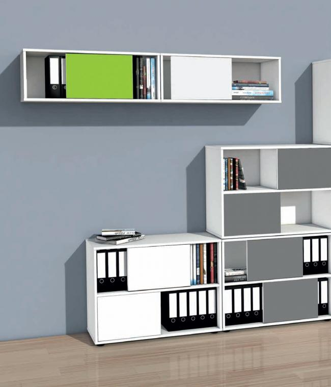schiebet renregal 1 ordnerh he 100 cm breit wendet ren. Black Bedroom Furniture Sets. Home Design Ideas