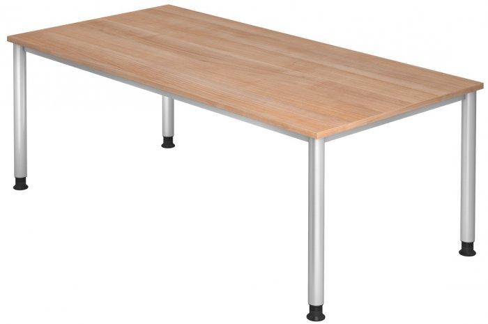 Schreibtisch hera breite 200 cm x tiefe 100 cm 4 fu for Schreibtisch 200x100