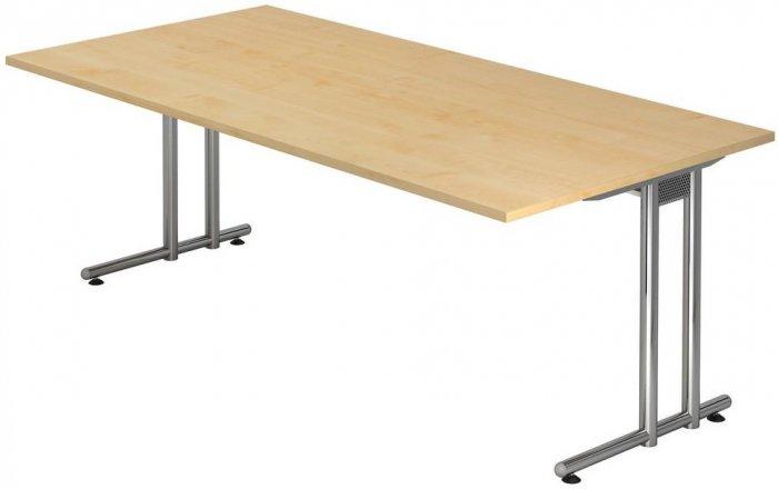 Schreibtisch nexus 200x100 cm gestell chrom dekor for Schreibtisch 200x100