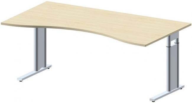 schreibtisch style pro in nierenform 160 x 100 cm 180 x 100 cm 200 x 100 cm. Black Bedroom Furniture Sets. Home Design Ideas